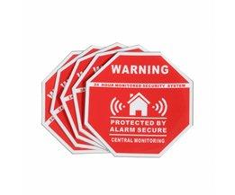 5 Stks Thuis Huis Alarm Beveiliging Stickers/Decals Borden voor Windows & Deuren Safurance