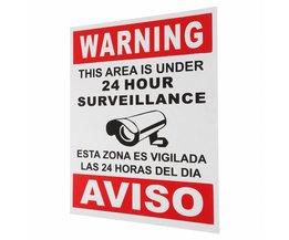 Waarschuwing Dit Gebied Is Onder 24 Uur Surveillance Engels & Spaans Teken Veiligheid CCTV Home Veiligheid Safurance