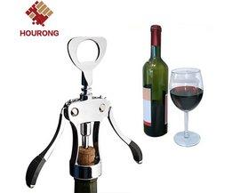 Hourong 1 st professionele rvs wijn flesopener handvat druk kurkentrekker rode wijn opener keuken accessoire bar tool hourong