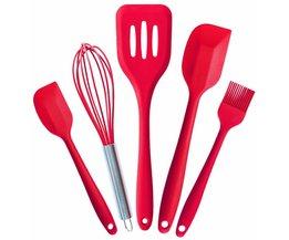 Siliconen keukengerei, siliconen schraper, borstel, lekkage schop, Garde, bakken tools set van 5