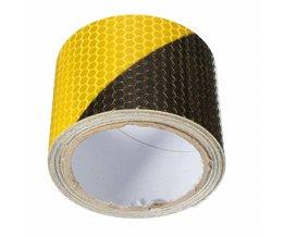 Zwart Geel Reflecterende Veiligheidswaarschuwing Conspicuity Tape Film Sticker 300 cm x 5 cm Werkplek Supplies Waarschuwing Tape Safurance