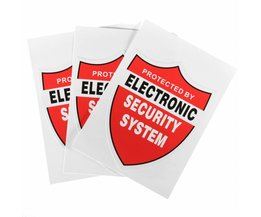 3 Stks BEVEILIGINGSSYSTEEM DECALS Decal Video Waarschuwing CCTV Camera Home Alarm Security Safurance