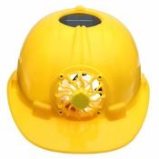 Geel Zonne-energie Veiligheidshelm Werken Hard Hoed Zonnepaneel Koelventilator Werkplek Safurance