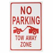 Aluminiumlegering Geen Parking-Tow Away Zone Waarschuwing Teken Werkplek Security Safurance