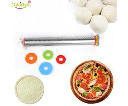 Delidge 1 st multifunctionele 4 Verstelbare Discs Deegroller Rvs Deeg Dumplings Noedels Pizza Creatieve Maken Gereedschap delidge