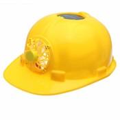 Geel Zonne-energie Veiligheidshelm Werken Hard Hoed Zonnepaneel Koelventilator Werkplek MyXL