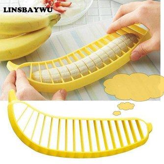 milieuvriendelijkePraktische Banana Slicer Cutter Chopper Fruitsalade Dunschiller Keuken Tool shredders snijmachines LINSBAYWU