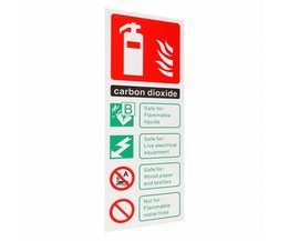 Brandblusser Kooldioxide ID Sticker Teken Sticker Decal Waarschuwing Veiligheid Werkplek Safurance