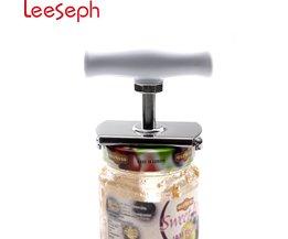 Praktische Rvs Flexibele Spiraal Gear Jar Opener met ABS Draaien Handvat, Suitble voor Opening 1-4 inches fles Kan