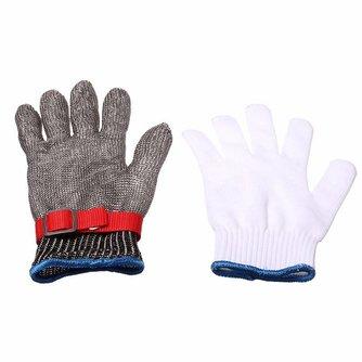 Veiligheid Cut Proof Steekwerende Rvs Metal Mesh Slager Handschoen Gezondheid En Veiligheid Gemakkelijk Schoon Duurzame Kwaliteit Safurance