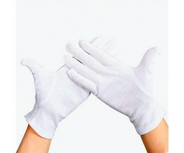 12 Pairs Elastische Nylon Garen en Katoen Arbeid Werkhandschoenen Hand Security Veilig Bescherming Cover Wit Safurance