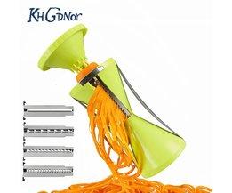 Verwisselbare Bladen Spiral Slicer Groente-en Spiralizer Wortel Komkommer Rasp Cutters Met 4 Messen Keuken Accessoires KHGDNOR