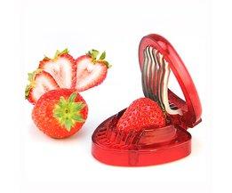 plastic aardbei slicer fruit vleesmes cutter met 7 rvs sharp blade keuken gadgets Kitstorm