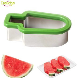 Delidge 1 st Watermeloen Cutter Rvs Popsicle Vorm Meloen slicer Cantaloupe Meloen Snijgereedschap delidge