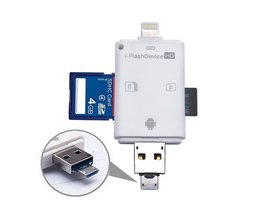 I-FlashDrive HD 32 GB TF + Sd-kaartlezer Interface Micro USB Flash Drive voor iPOD/iPhone/iPad [FH] FC ACRDDK