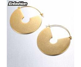 EnVintage Grote Cirkel Dangle Oorbellen Matte Gold kleur Oorbellen Oorbellen Voor Vrouwen Lange Oorbel Sieraden brinco MyXL