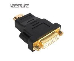 Audiokabel HD 1080 P Vergulde HDMI naar dvi 24 + 5 vrouwelijke Videokaart Converter adapter voor HDTV LCD DVI Kabel VBESTLIFE
