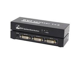 1X2 DVI SPLITTER 1*2 met DVI-D 1 ingang 2 output Video Splitter HD 1920x1200 Yellow Knife