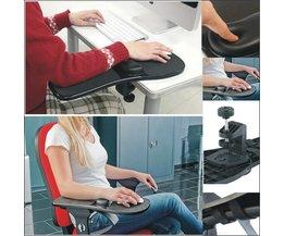 Arm Zorg Muismat Rotatie Computer Desktop Laptop Muis Lade elleboog Pad Polssteun Plaat Ondersteuning Installeren op Bureau en stoel FGHGF