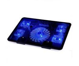 """Laptop cooling pad  SY-C5 met 5 elektrische fans 2 usb-poorten en led-verlichting voor 14 """"15.6"""" 17 """"notebook computer BingYing"""