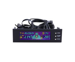 LCD Panel CPU Fan Speed Controller Temperatuur Display 5.25 inch PC Fan Speed Controller OXA