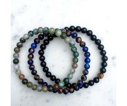 Natuurlijke Zwarte Steen Kralen Armband Mannen Hematiet Kralen Armbanden Yoga Sieraden Bracciali Steen Armband Pulseiras Mcllroy