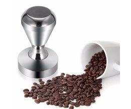 51mm Effen Rvs Platte Base Grip Handvat Barista Espresso Koffieboon Druk Zilver Koffie Stampers Bean Persmachine MyXL