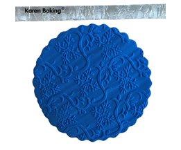 Varens Imprint Embossing Plastic Versierd Taart Deegroller Suiker Ambachtelijke Gereedschap A348 Karen Baking