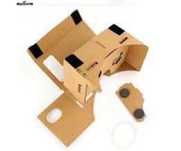 Grote promotie Draagbare DIY Karton Kwaliteit 3D Vr Virtual Reality Bril Voor Google Drop verzending malloom