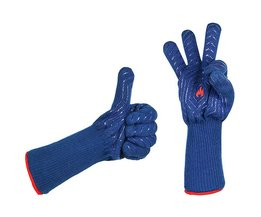 1 paar blauw hittebestendige isolatie grill magnetron ovenwanten handschoenen keuken bbq koken bakken tools handschoen mitt MyXL