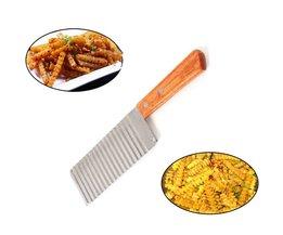 Rvs Aardappel Golvend Edged Mes Keuken Gadget Groente Fruit Dunschiller Aardappel Slicer Cutter Koken Gereedschap Accessoires IC8 EH-LIFE