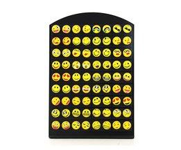 Ontwerp 36 Pairs Emoji Gelukkig Grappig Gezicht Stud Earring voor Vrouwen Meisjes Trendy Oor Sieraden Geschenken MyXL