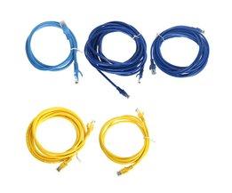 RJ45 Ethernet-netwerk LAN Cat5e Cat5 Patch Kabel 1 m/2 m/3 m/5 m/10 m Voor Computer mindzo