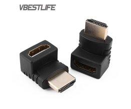 HDMI man HDMI vrouwelijke Kabel Adapter Adapter Converter Extender 270/90 Graden Hoek voor 1080 P HDTV HDMI Adapter VBESTLIFE