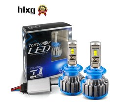 Hlxg Auto Koplampen H8 H11 9005 H4 H7 LED Koplampen 35 W 7000LM 12 V Auto COB Chips Lichtbron 6000 K hlxg