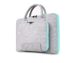 vilt universele laptoptas notebook case aktetas handlebag pouch voor macbook air pro retina mannen vrouwen zimoon