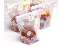100 stks 12*20 cm Saaie Polish Bubble Plastic Cookie Tassen Bruiloft Snoep Decoratie Dessert Macaron Verpakking PEIPINGKE