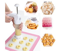 Bakken gebak Gereedschappen Cookie Mold Pers Pistool, 12 Bloem Schimmel + 6 Pastry Tips biscuit cookie cutter DIY cake Cookie maken machine MyXL