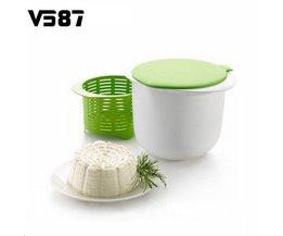 Magnetron Kaas Maker Bevat Recepten Plastic Gezond Voor Maken Kaas Thuis Koken Keuken Dessert Pastei Tool V587