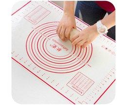 Vanzlife platinum siliconen mat deeg snijplank met schaal grote antislip siliconen mat keuken bakvormen mat vanzlife