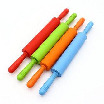 44*5.3 cm Siliconen Deegrollers Deeg Gebak Roller Plastic Handvat Siliconen Grote Deegroller Bakken Tools MFHXXX