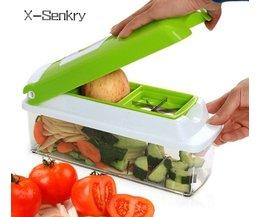 12 STKS set Multifunctionele Slicer Groentensnijder Mandoline Slicer Met Verwisselbare Rvs Dunschiller Rasp X-Senkry