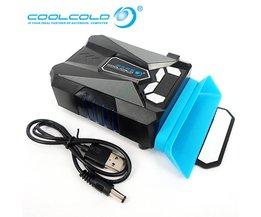 Ijs Troll 5 Intelligente Temperatuurregeling Koelventilator Met Lcd-scherm USB Radiator Notebook Koeler voor 14 ''15'' 17 ''Laptop Cool Cold