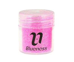4 Fles/Set Sequin Dust Gem Nail Glitter Decoraties 4 Kleuren Acryl UV Glitter Poeder 3D Nail Art Tips BG053-056 <br />  Blueness