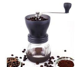TuansingDraagbare Wasbaar Handleiding Keramische Koffiemolen PP + Rvs Voor Huis & Keuken Mini Houvast Koffiemolen <br />  TUANSING