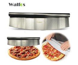 12 Inch Pizza Cutter Sharp Rocker Blade Premium Rvs Rocking Pizza Mes Pastry Chopper <br />  walfos