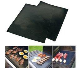 6 stks 40X50CM * 0.08 MM Gratis shippig Non stick PTFE BBQ liners oven liner Grill folie Barbecue liner herbruikbare Teflon koken vel <br />  Bluedrop