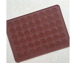 100% Food Grade 38*28 cm 48 Ronde Macaron Siliconen Bakken Mat gebruik voor Oven Bakplaat Matten Cake Bakvormen DIY Cake gereedschap <br />  KHGDNOR