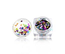 1 doos Ruit Holo Kleurrijke 3D Nail Art Sequin Glitter Slice Paillette Nail Art Vlokken Manicure 3D Sticker Tips TRND296 <br />  Tracy Simple Nail