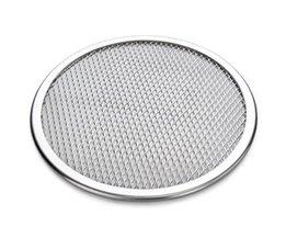 "18 ""naadloze Velg Aluminium Mesh Pizza Screen Bakplaat Pizza Scherm Netto Kookgerei Bakvormen Bakken Hulpmiddel Pizza Tool <br />  DYan"
